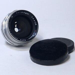 Meyer-Optik Gorlitz PRIMAGON 35mm f/4.5 Vintage Wide-Angle Lens w Case Germany