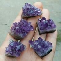 Irregular Natural Amethyst Druzy Quartz Geode Cluster Crystal Gem Specimen Decor