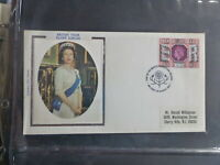 UK 1977 QUEENS SILVER JUBILEE BELFAST SILK FDC FIRST DAY COVER