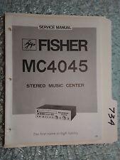 Fisher MC-4045 service manual original repair book stereo receiver tuner radio