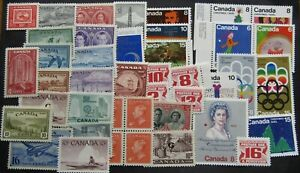 CANADA STAMPS. ALL GOOD L/HINGED OR BETTER.