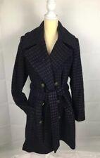xhilaration Women Wool Blend Coat Plum/ Purple Winter Trench Belted Jacket Sz L