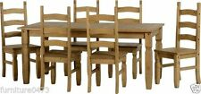 Pine Traditional 7 Pieces Table & Chair Sets