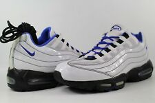 Nike ID Air Max 95 Premium Patent Leather White Royal Blue Black Size 12