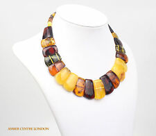 Butterscotch Multicoloured Baltic Elegant Amber Necklace- A0509  RRP£995!!!