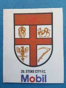 Mobil Football Club Badges Silk 1983 Stoke City
