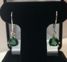 925Sterling Silver Handmade Certified Emerald Stone Antique Earrings For Beloved