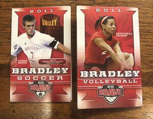 2011 Bradley Soccer/Volleyball Pocket Schedule - Bobby Smith/Genevieve Dejean