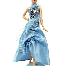 Barbie Fashion Show Two Piece Gown with Sequins Faux Fur Boa