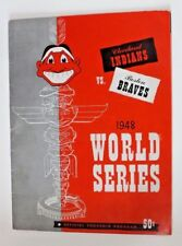 1948 World Series Program Cleveland Stadium  VIVID COLOR, CLEAN!