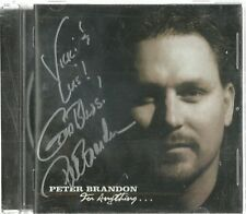 PETER BRANDON FOR ANYTHING... (AUTOGRAPHED) CD