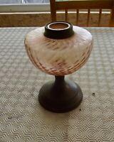 Ancien Réservoir Lampe à Pétrole couleurs Rose  vintage Bougie Bougeoir Hotel