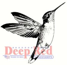 Deep Red Stamps Hummingbird Rubber Cling Stamp