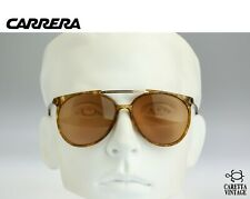 Carrera 5332, Vintage 80s tinted brown lenses unique tortoise oversized aviator