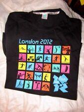 LONDON  2012 OLYMPIC   T-Shirt Shirt TEE  BLACK SPORT LOGOS  LARGE L   NWOT