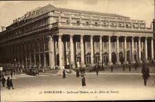 Bordeaux France CPA 1925 Le Grand Theatre vu des Allées de Tourny Theater Autos
