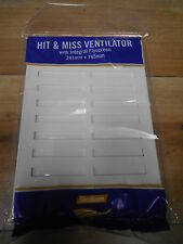 Hit And Miss Ventilator With Integral Flyscreen 241mm x 165mm