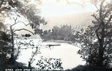 Spray Island Loch Tay sepia RP old postcard used 1905 by WR&S Reliable Series