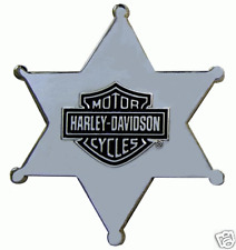 HARLEY DAVIDSON CHROME POLISHED SHERIFF STAR PIN