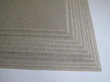 15 x A5 Planche grise Artisanat Carte 1000mic 1mm