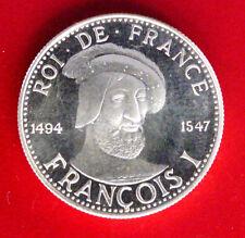 Les Rois de France Médaille en argent - François Ier 1494-1547
