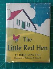 Helen Dean Fish - The Little Red Hen - 1945 Houghton Mifflin Vintage Hardcover