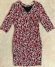 BOSS HUGO BOSS RED LEOPARD PRINT 3/4 SLEEVE SHEATH DRESS $595 8