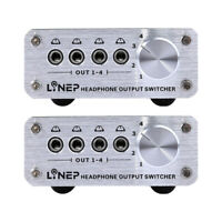 2pcs 4 In 4 Out Headphone 3.5mm Mp3 Audio Signal Switcher Digital Multi-channel