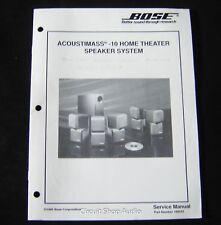 Original Bose Acoustimass 10 Homte Theater Speaker System Service Manual