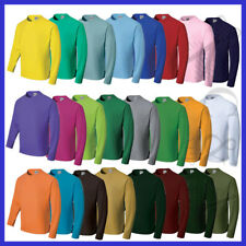 Kids Sun Smart Long Sleeve Light weight Tee Shirt 24 colours Anti Bacterial New