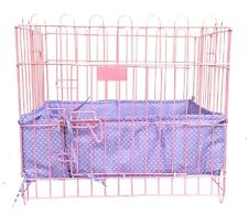 Cushioned Borders for Pet Crates HEARTS PURPLE