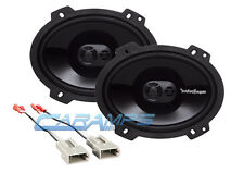 NEW ROCKFORD FOSGATE 3-WAY CAR STEREO FRONT OR REAR SPEAKERS W SPEAKER HARNESS
