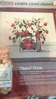 Craft Kit Paragon Creative Crewel Stitchery Kit Pippins Wild Strawberries 1974