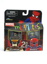 Marvel Minimates Brown Wolverine & Dark Magneto TRU Series 9 Toys-R-US New