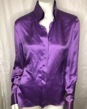 NWT Giorgio Armani  Silk  Button Up Blouse Italian Size 46 New $1295