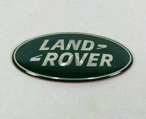 LAND ROVER GRILLE EMBLEM Dark Green/SILVER GRILL OVAL BADGE sign symbol logo