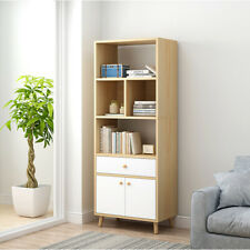 Freestanding 4 Cube Storage Cabinet Unit w/ Drawer Door Bookcase Display Shelves