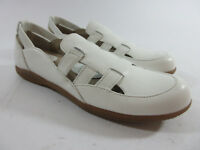 Softwalk Hampton White Leather Casual Comfort Slip On Shoes Womens Sz 7.5 S/AAA