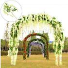 1/6/12Pcs Silk Wisteria Garden Hanging Flower Vine Wedding Party Decor 110cm