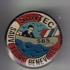RARE PINS PIN'S .. BATEAU NAVIRE BOAT SAUVETAGE MER SNSM ZODIAC SBS SANTEC 29~C3