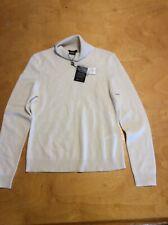 $160 Women's 100% cashmere sweater TURTLENECK IVORY FROST  petite  P101F