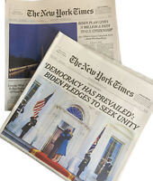 New York Times Newspaper January 20, 21 2021 LOT/2 Biden 46th President New Era