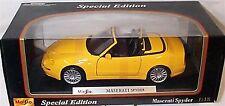 Maserati Spyder in Yellow 1-18 scale New in Box