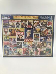 White Mountain Vintage World War 2 WWIIPosters - 550 Piece Puzzle