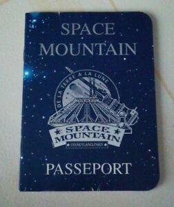 Rare passeport disney space mountain 1995 Disneyland Paris