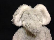 """Little White Company Wilfred Elephant Elly Silver Grey Soft Toy Bashful WFUYM 6"""""""