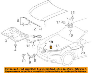 TOYOTA OEM Hood-Release Cable Clip 9095901369