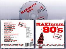 MAXIMUM 80'S VOL.3 - Autori Vari 2000 CD Nuovo RARO