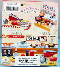 Miniatures Sushi Go Round Sushi Bar Complete Box - Re-ment , h#1ok