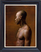 """Original Oil Painting art young Male nude on canvas 20x28"""""""